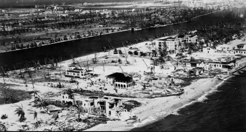 Miami 1925 hurricane damage