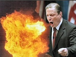 GORE SPEWS FIRE