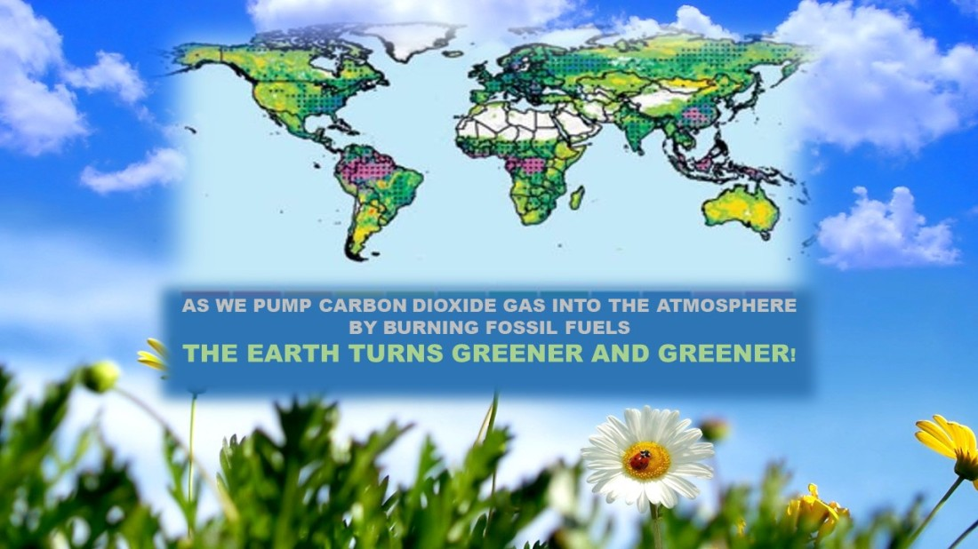THE EARTH TURNS GREENER AND GREENER